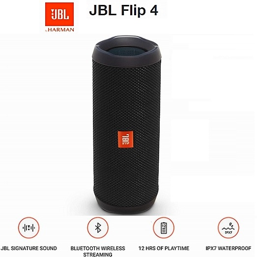 BOCINAS PORTABLE JBL FLIP2 BLUETOOTH BLACK