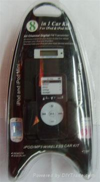 IPOD KIT 8 IN 1 PARA CARRO (BLK/WHT)