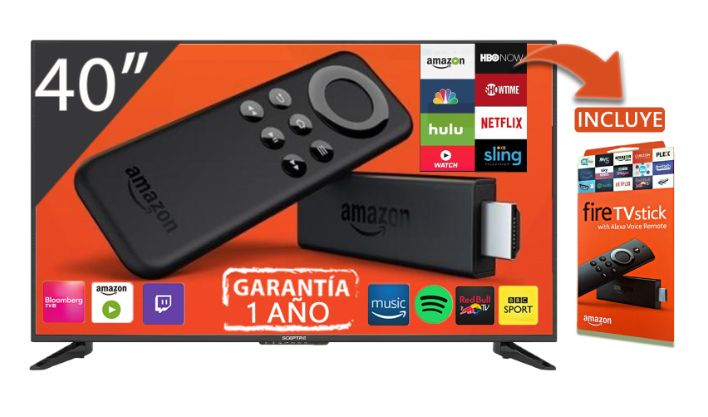 TELEVISOR LED 40 SCEPTRE HDTV + AMAZON FIRE STICK