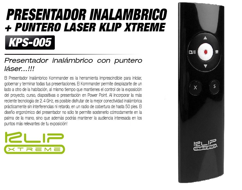 POINTER KLIPX NANO PRESENTER W/LASER KPS-006