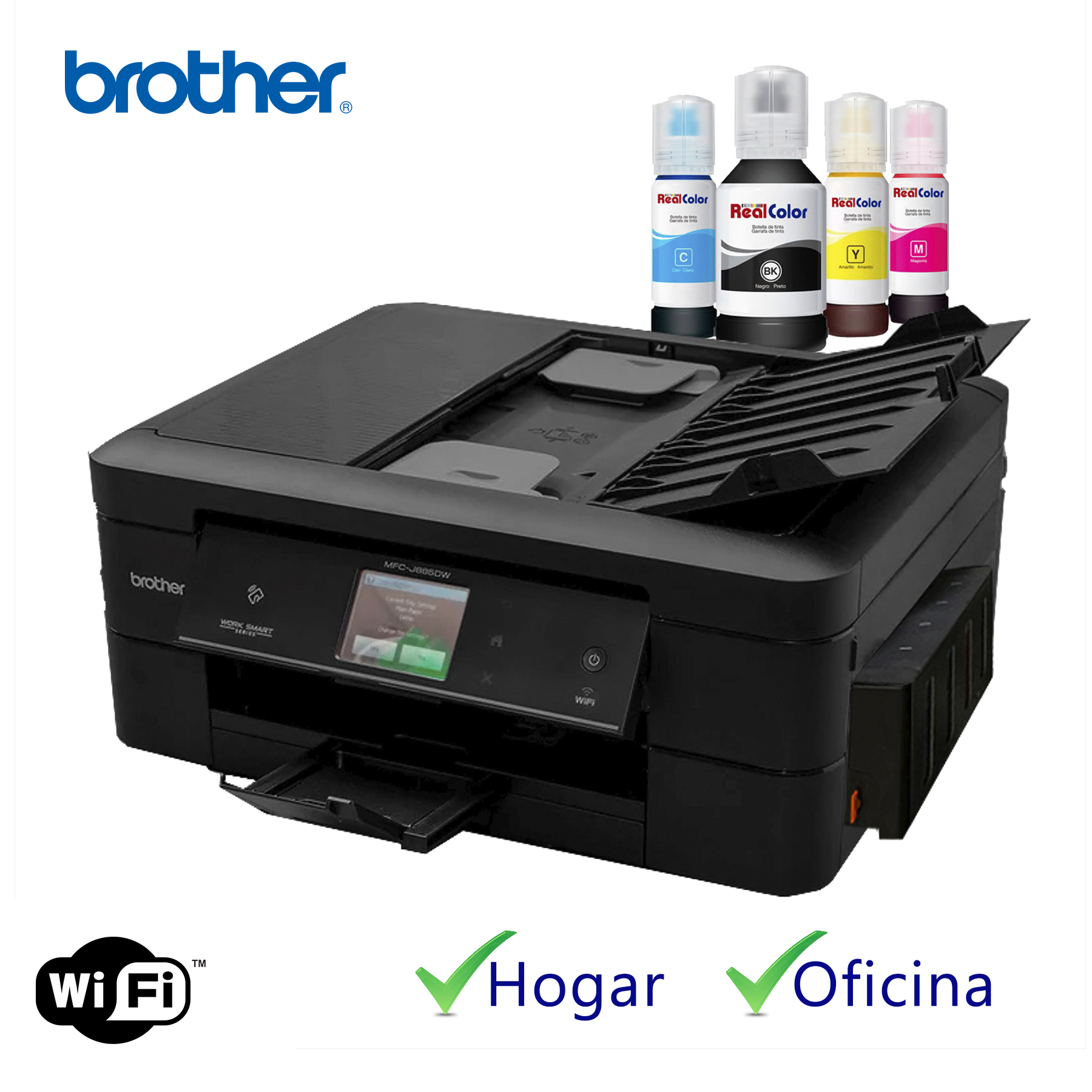 PRINTER EPSON WF-2540 + SISTEMA TINTA REAL COLOR