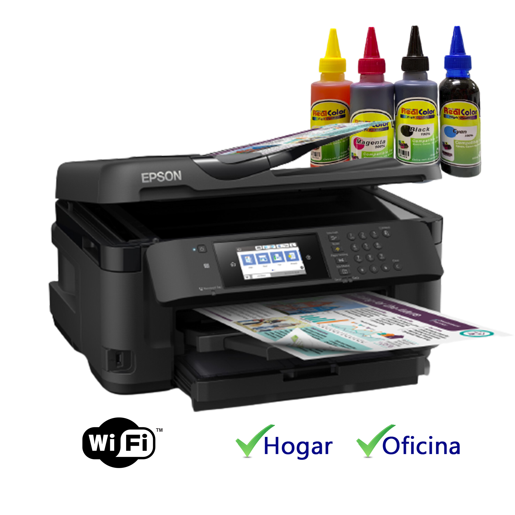 PRINTER CANON MG2410 + SISTEMA TINTA REAL COLOR