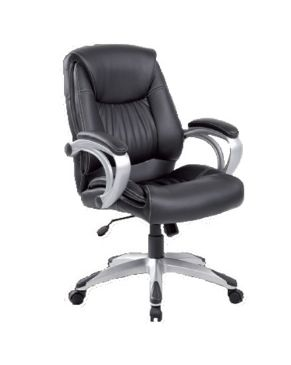 SILLON SEMI-EJECUTIVA (SIT-M600) BLK FAUX LEATHER