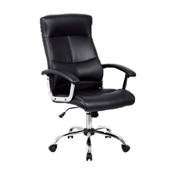 SILLON SEMI-EJECUTIVA (SIT-M500) BLK FAUX LEATHER