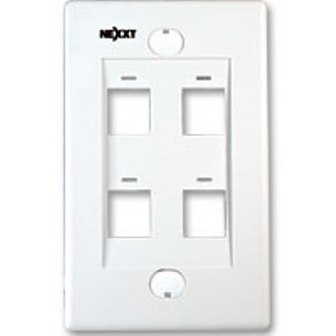 Rj-45 Wall Plate Nexxt 4 Port White